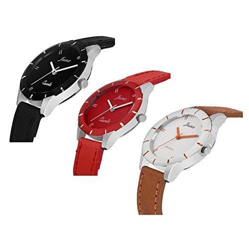 Jainx Triple Combo Multi Color Dial Analog Watch for Women & Girls - JXT809