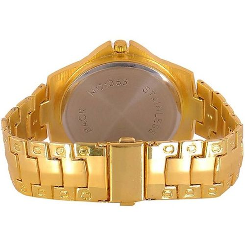 GLOBALURJA TRUE CHOICE ROSRA GOLD ANALOG WATCH FOR MEN.