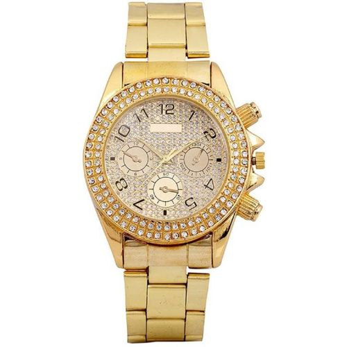 TRUE COLORS AD DIAMOND GOLD PLATED RICH MAN Analog Watch - For Boys, Men 6 month warranty