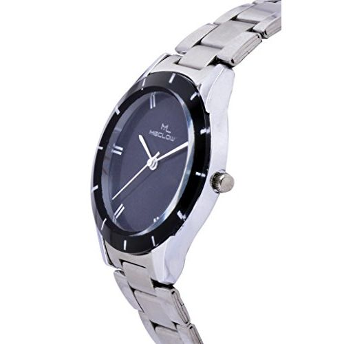 MECLOW Black Dial Analogue Watch for Women (Set of 2)
