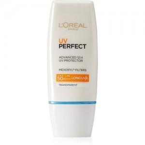 L'Oreal Paris UV perfect Advanced 12H UV protector, Transparent - SPF 50 PA++++