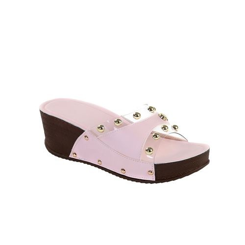 Meia Pink Synthetic Casual Wedges