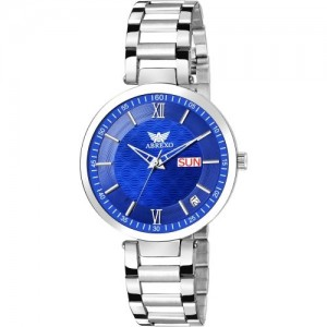 Abrexo Abx2092-BL BLUE DAIL Day & Date Watch - For Women