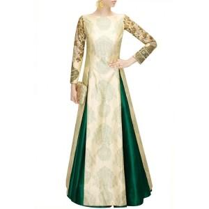 SVA Emerald green pleated lehenga by Sonam & Paras Modi