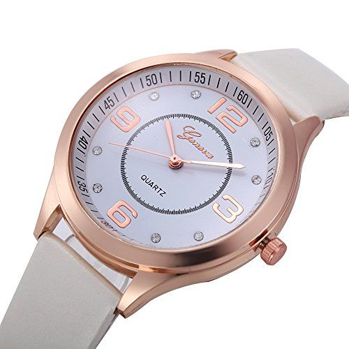 Geneva Platinum White Dial Analogue Women & Girl's Watch - GP-362