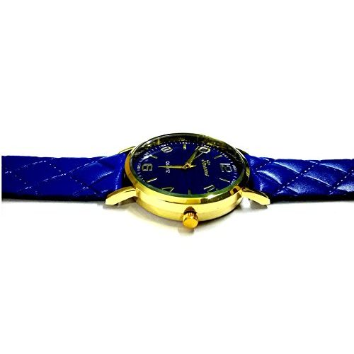 Geneva Platinum Analog Blue Dial Women's Watch - GP-239