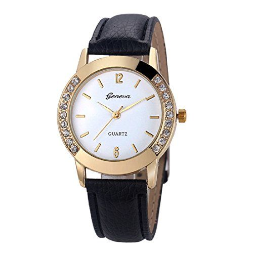 Geneva Platinum Analog White Dial Women's Watch - GP-005