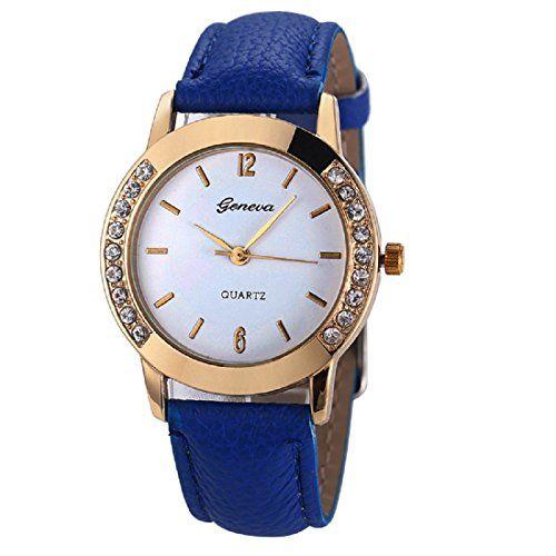 Geneva Platinum Analog White Dial Women's Watch - GP-004