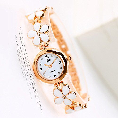 Addic Fragile White Flowers Girls & Women's Watch.