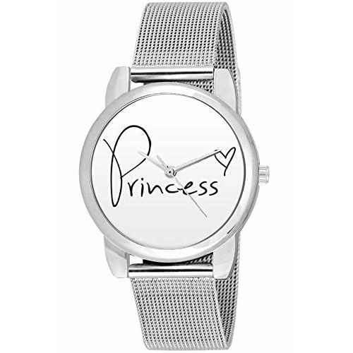 BigOwl Valentine Gifts for her, Silver Chain Analog Women's Watch