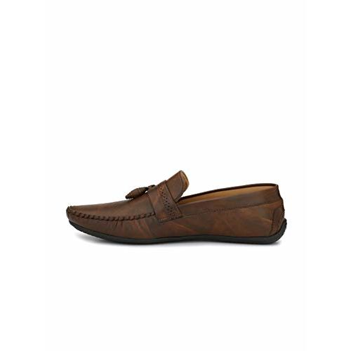 Fentacia Brown Synthetic Slip On Loafers