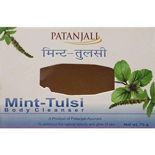 Patanjali Body Cleanser Bar, Mint Tulsi, 75g