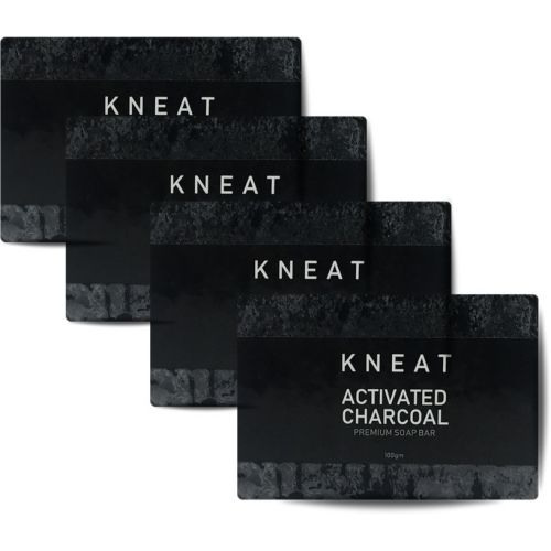 KNEAT Activated Charcoal Soap (Pack of 4)