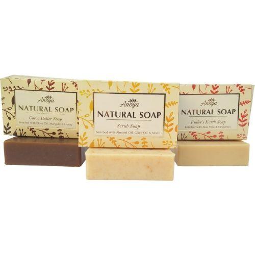 Anoya Scrub, Fuller's Earth & Cocoa Butter Natural Handmade Soap (100gms) Combo pack