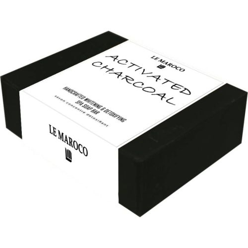 LE MAROCO ACTIVATED CHARCOAL HANDCRAFTED & DETOXIFYING SPA BRICK SOAP