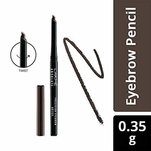 Lakmé Lakme Absolute Precision Eye Artist Eyebrow Pencil, Dark Brown, 0.35g