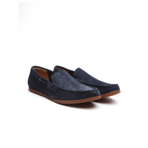 footwear fashionable patterns good service Buy Clarks Men Navy Blue Suede Loafers online | Looksgud.in