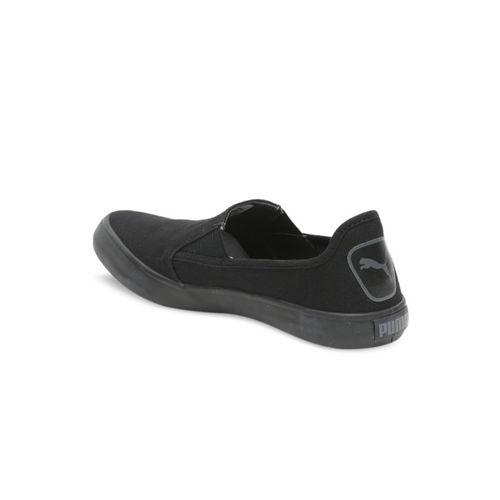 Puma Men Black Slip-On Sneakers