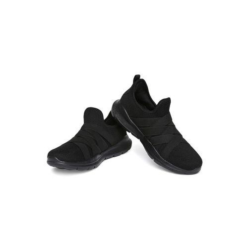 WROGN Men Black Solid Slip-On Sneakers