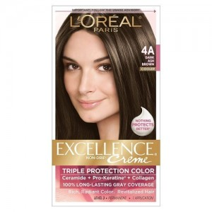 L'Oreal Paris Excellence Creme with Pro-Keratine Complex Dark Ash Brown 4A
