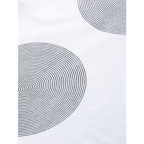 HERE&NOW  White Printed Round Neck T-shirt