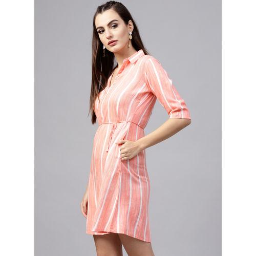 GERUA Coral Striped Shift Dress