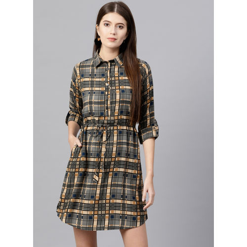 GERUA Grey Checked Shift Dress