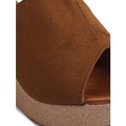 pelle albero Women Brown Solid Mules