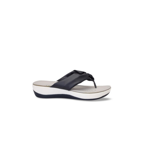 pelle albero Women Navy Blue Solid Sandals