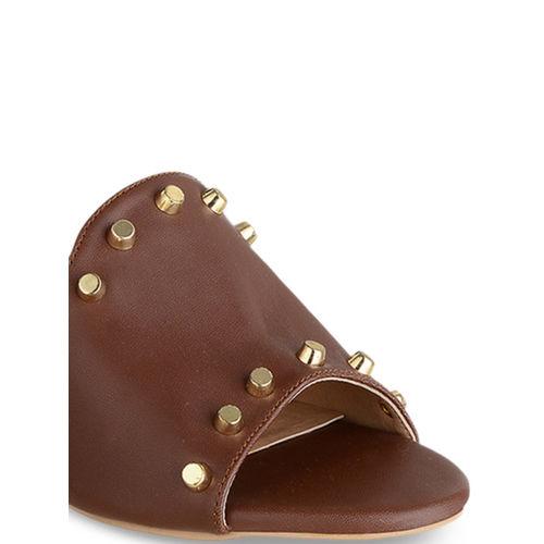Sherrif Shoes Women Brown Solid Heels