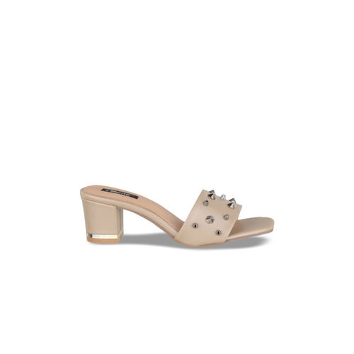 Sherrif Shoes Women Beige Embellished Heels
