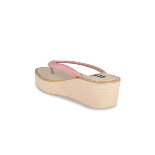 Sherrif Shoes Women Skin Color-Coloured Solid Wedges