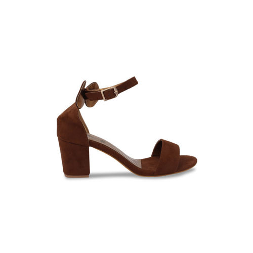 pelle albero Women Brown Solid Sandals