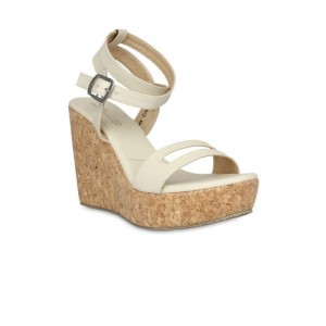 a09f982262aa Buy 20Dresses Women White   Tan Brown Colourblocked Wedges online ...