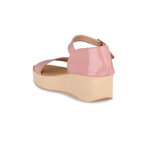 Sherrif Shoes Women Pink Solid Sandals