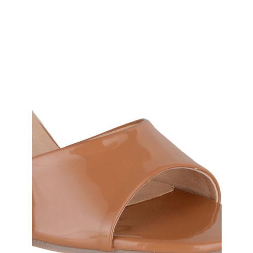 Sherrif Shoes Women Tan Solid Sandals