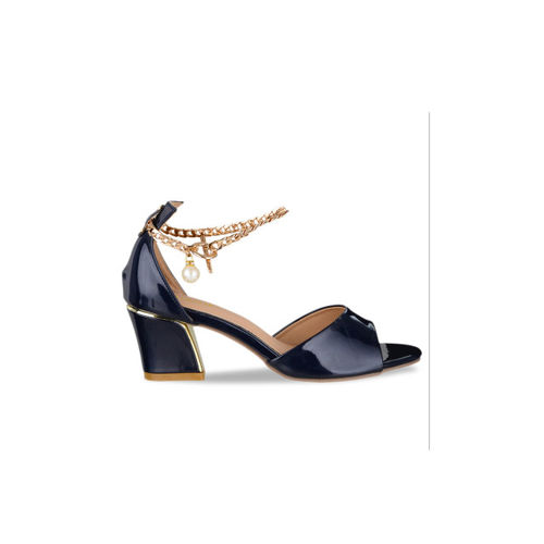 Sherrif Shoes Women Navy Blue Solid Sandals