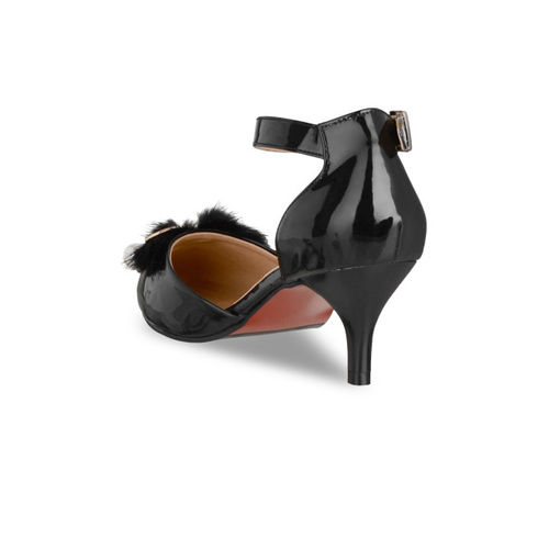 Sherrif Shoes Women Black Solid Pumps