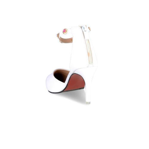 Sherrif Shoes Women White Solid Pumps