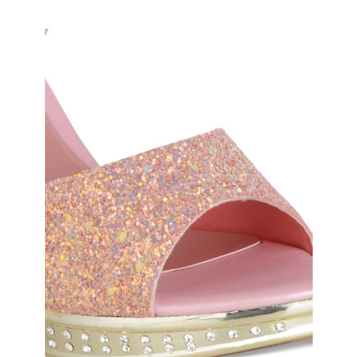 Sherrif Shoes Women Pink Solid Heels