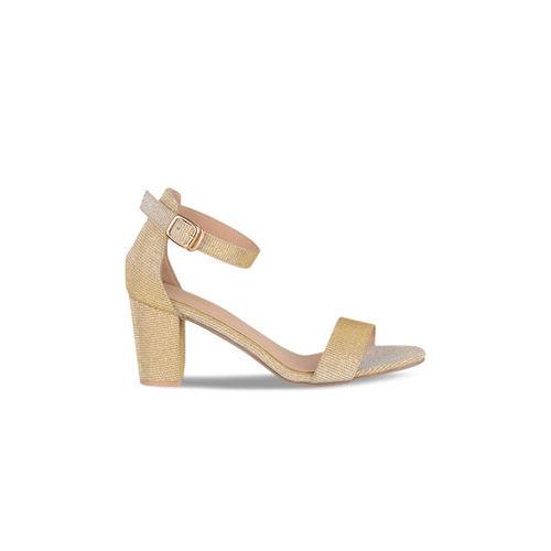 Sherrif Shoes Women Gold-Toned Solid Sandals