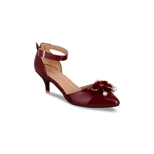 Sherrif Shoes Women Maroon Solid Pumps