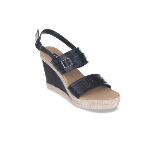 Sherrif Shoes Women Black Solid Heels