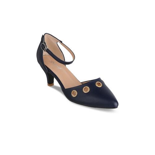 dc9934881cae3 Buy Sherrif Shoes Women Navy Blue Solid Heels online | Looksgud.in
