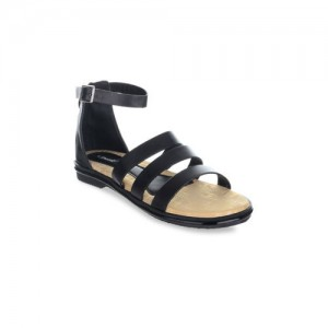 Sherrif Shoes Women Black Solid Synthetic Gladiators