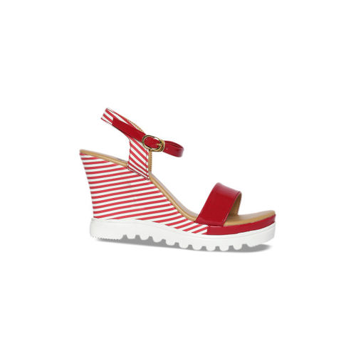 Wood Brough Women Red Solid Sandals