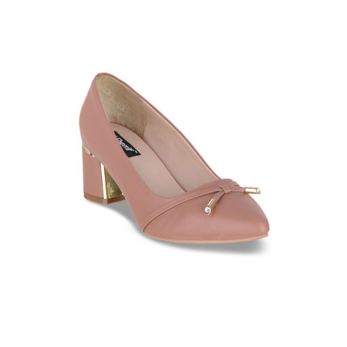 Sherrif Shoes Women Skin Color-Coloured Solid Pumps