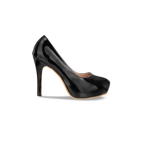 Sherrif Shoes Women Black Solid Pumps