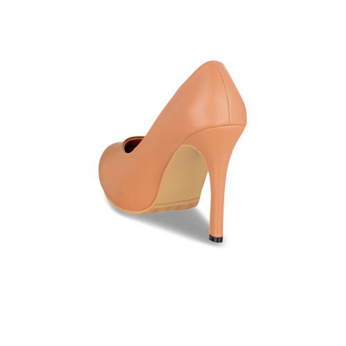 Sherrif Shoes Women Tan Solid Pumps