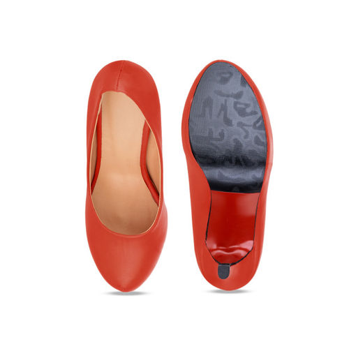 Sherrif Shoes Women Red Solid Pumps